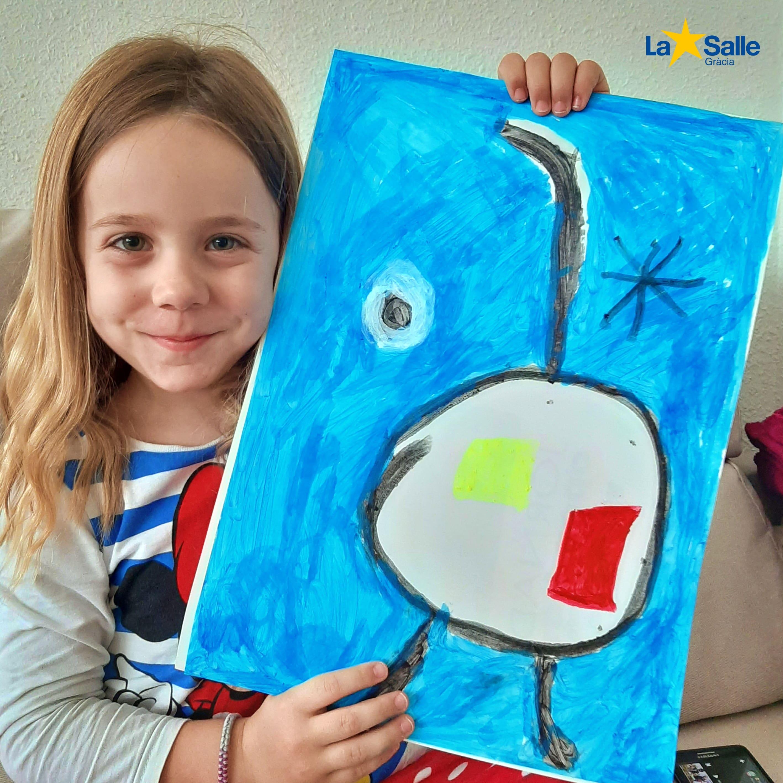 La classe de P-5 coneix l'obra de Joan Miró