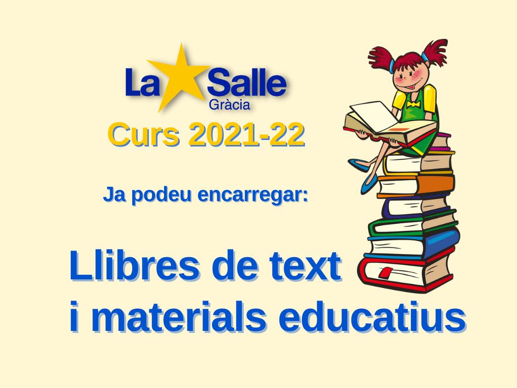 Llibres de text per al curs 2021-2022