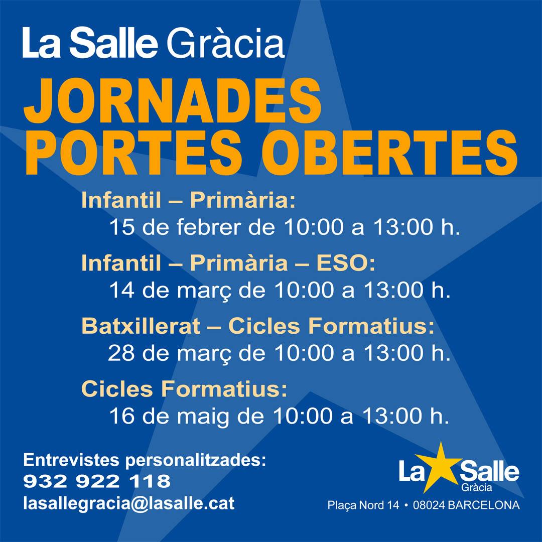 JORNADA DE PORTES OBERTES 2020 (INFANTIL I PRIMÀRIA)