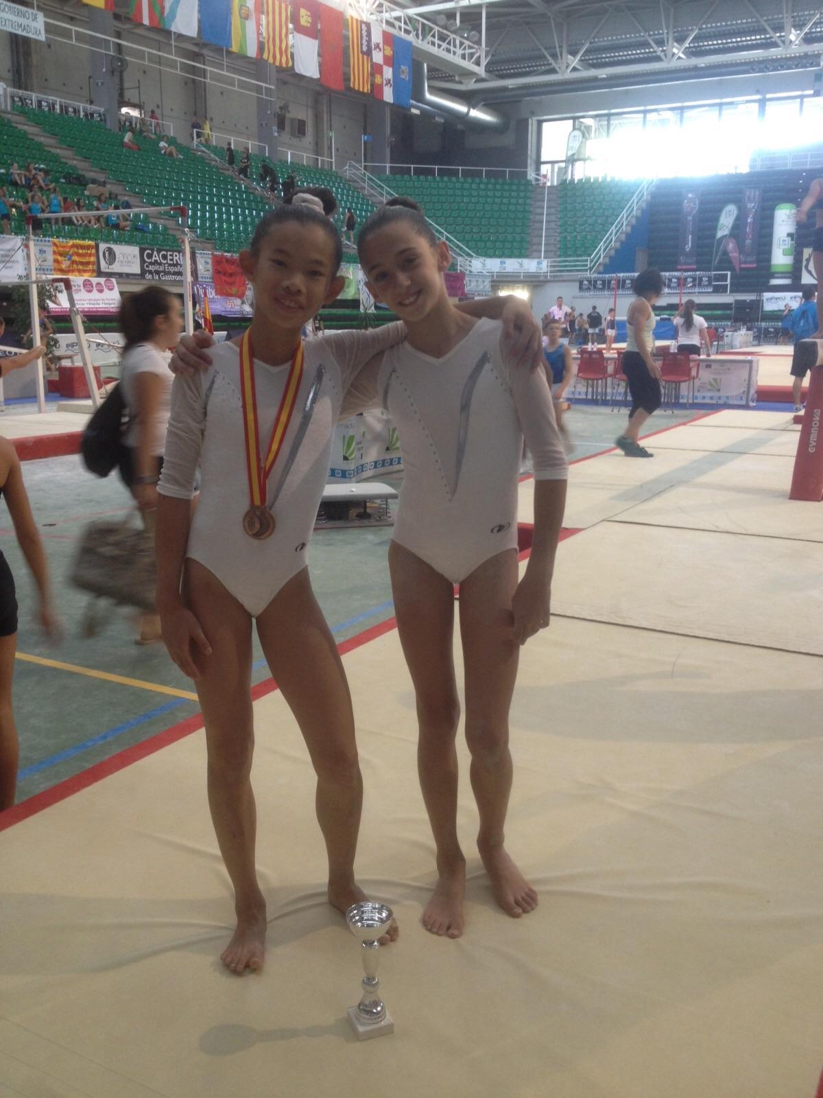 Dues alumnes finalistes al <b>Campionat d'Espanya de Gimnàstica</b>