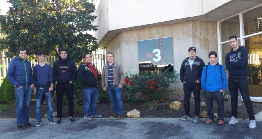 Els alumnes de cicles visiten TV3