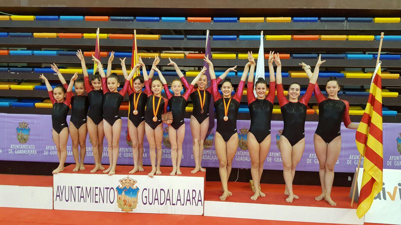3a posició per a l'equip de gimnàstica artística de la Salle Gràcia a la Copa d'Espanya