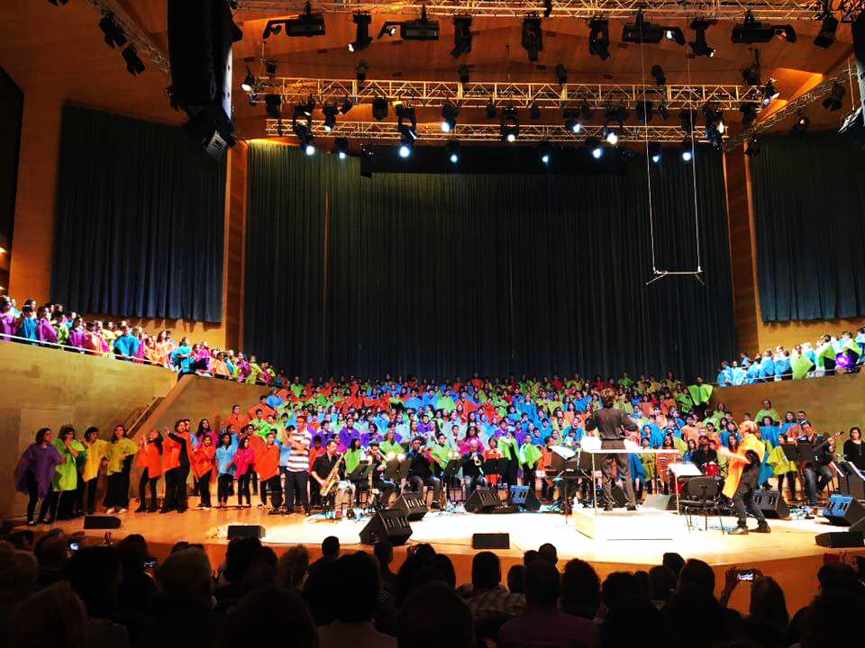 Els alumnes de 4t de Primària participen en el projecte Cantània, a L'Auditori de Barcelona