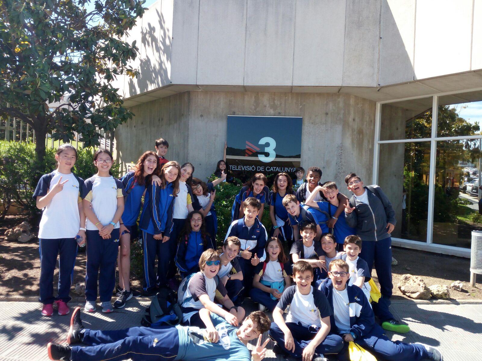 Els alumnes de 6è de primària visiten les instal·lacions de TV3