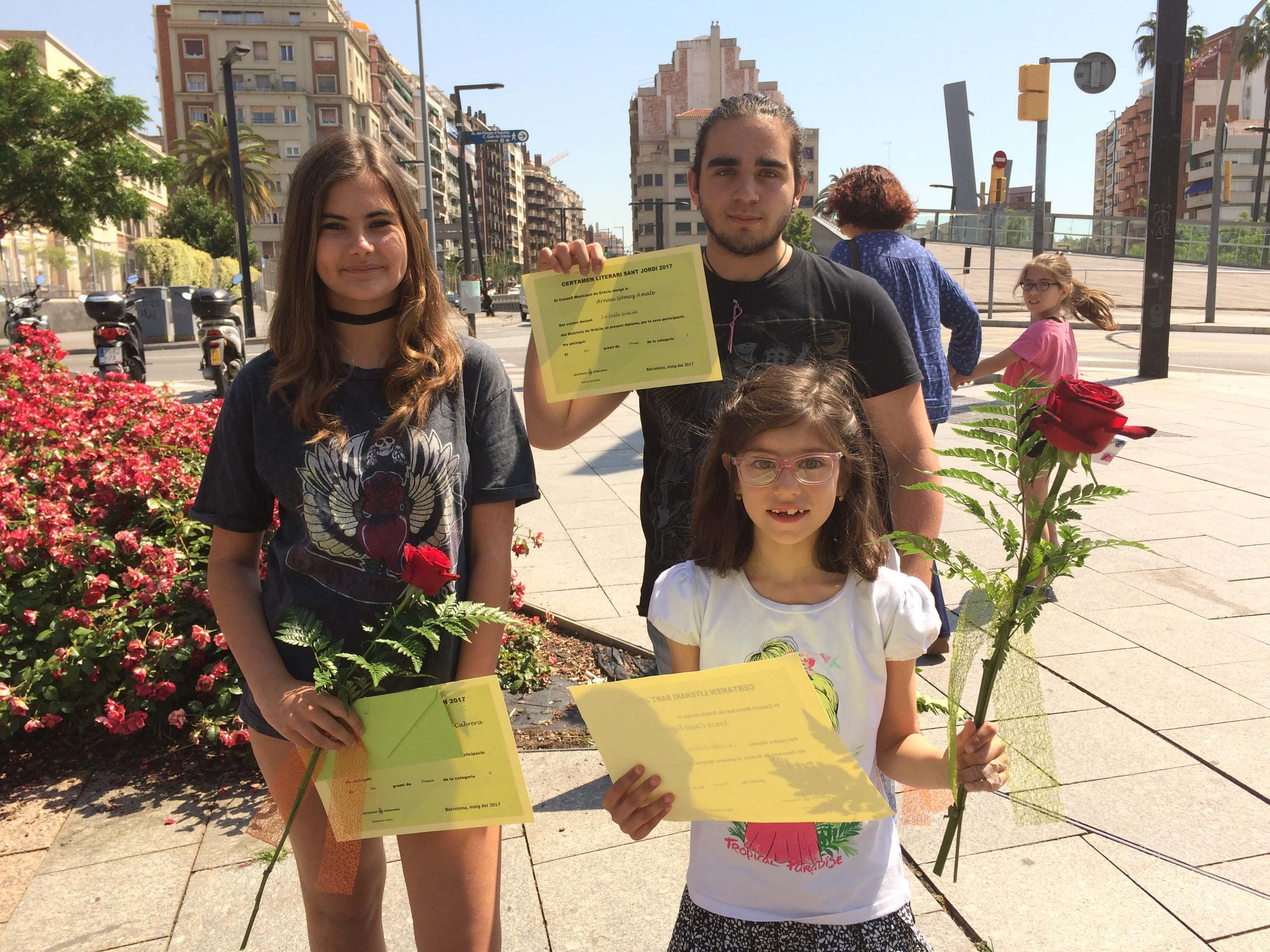 Alumnes de l'escola, guardonats en els Jocs Florals Escolars del Districte de Gràcia