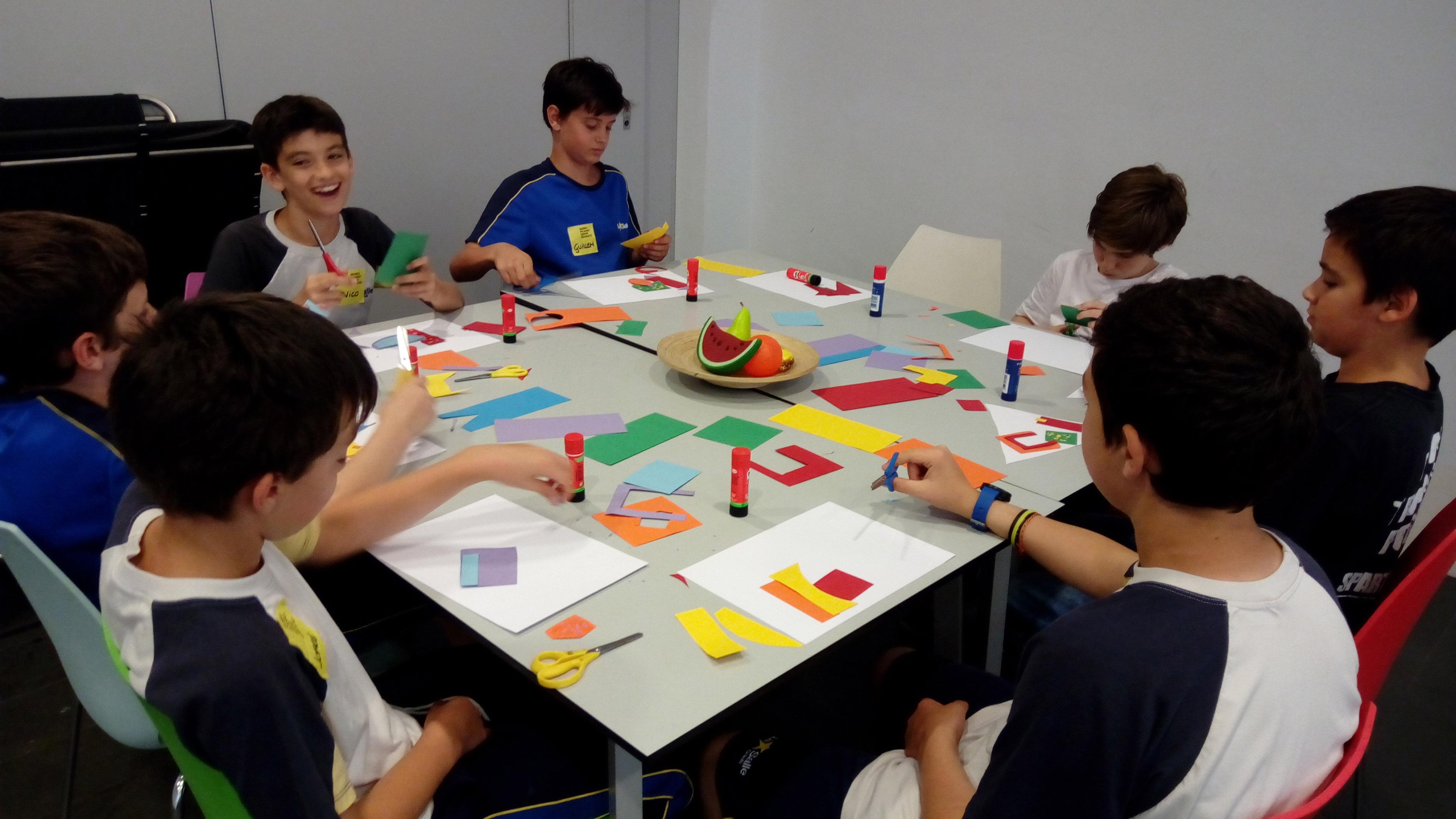 Els alumnes de 6è de Primària fan d'artistes al Museu Picasso de Barcelona