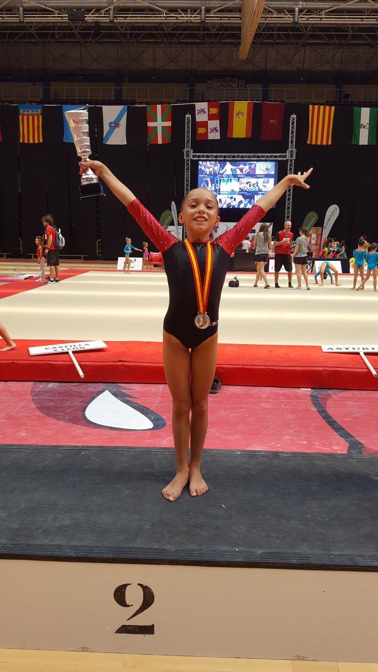 Les gimnastes de la Salle Gràcia aconsegueixen 7 podis en el Campionat d'Espanya de Valladolid
