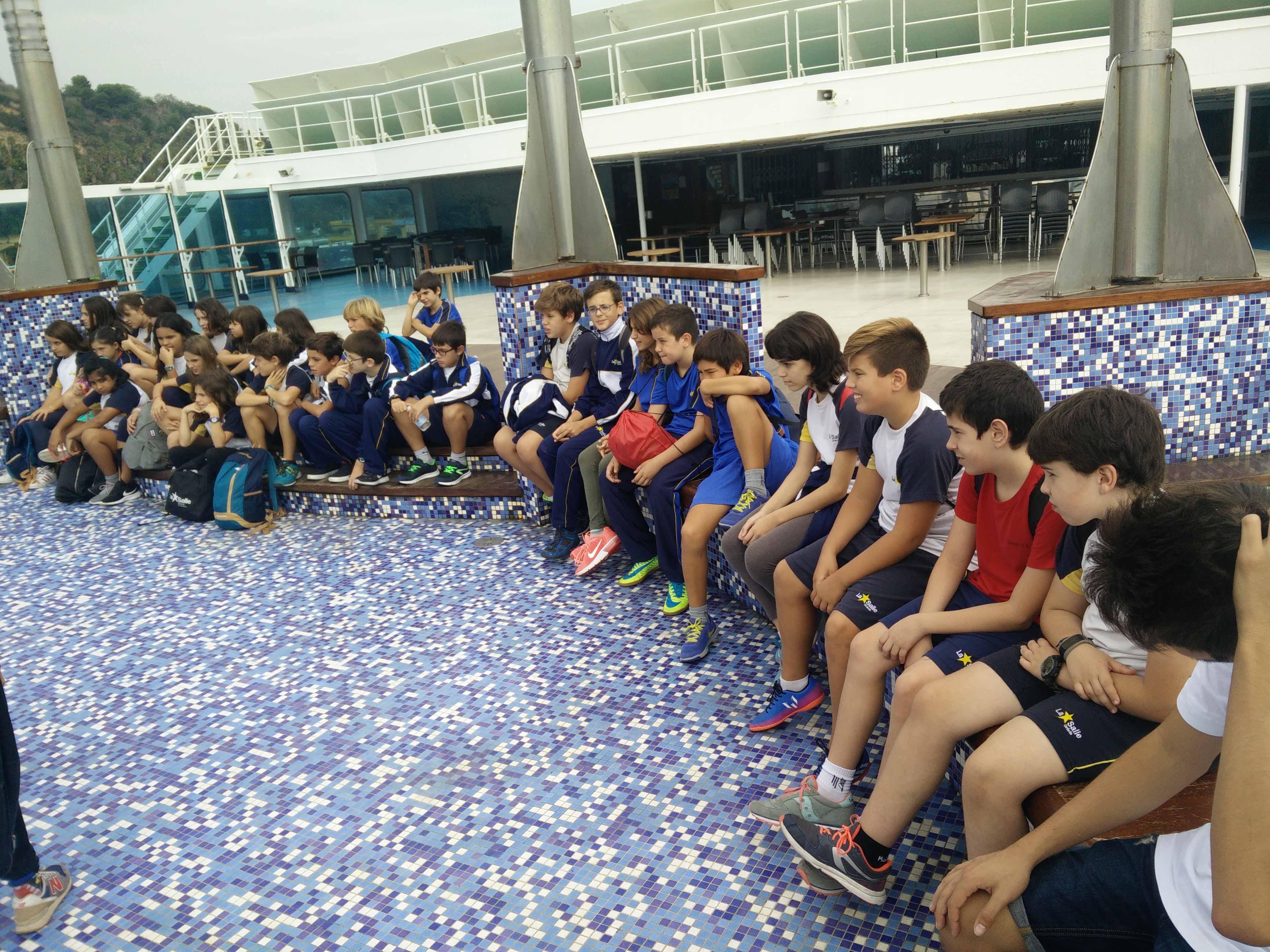 L'alumnat de 5è i 6è de Primària visita el Museu Marítim de Barcelona