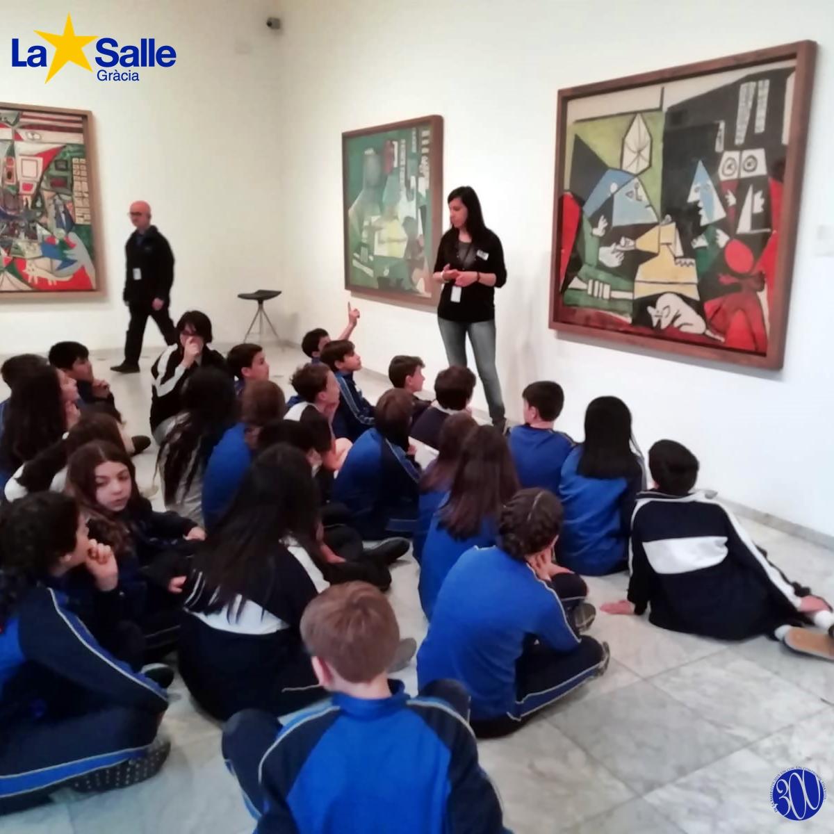 Visita i taller al museu Picasso (6è de primària)