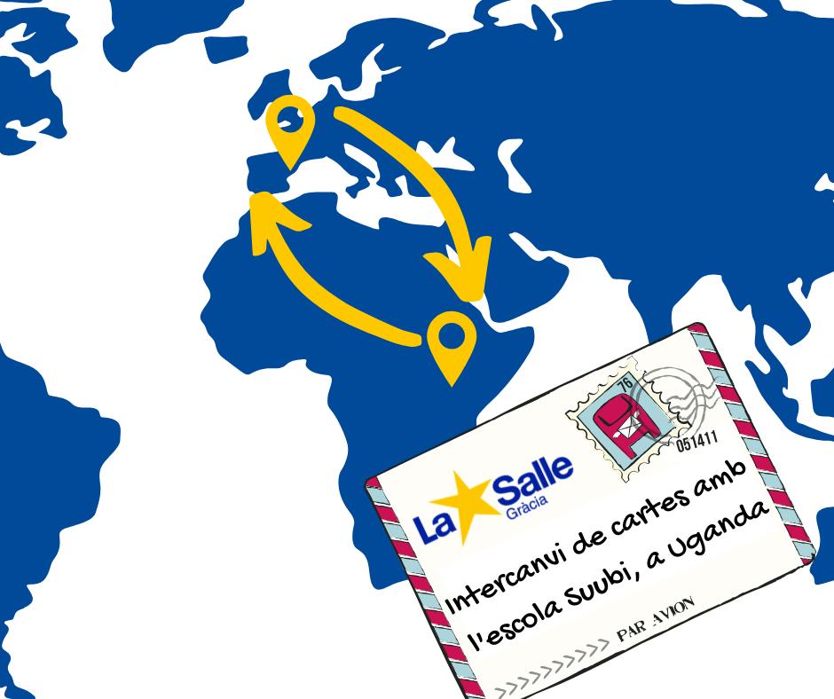 Intercanvi de cartes amb Lubanda (Uganda) (1r de Batxillerat)
