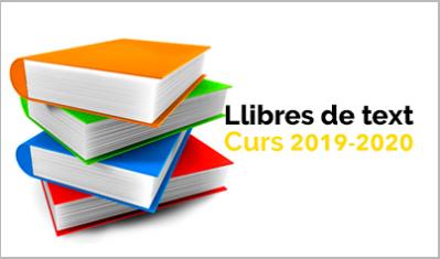 Llibres de text per al curs 2019-2020