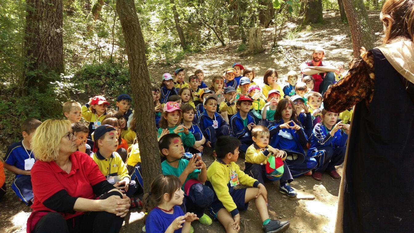 Els nens i nenes d'Infantil es converteixen en petits exploradors a la Granja de Santa Maria