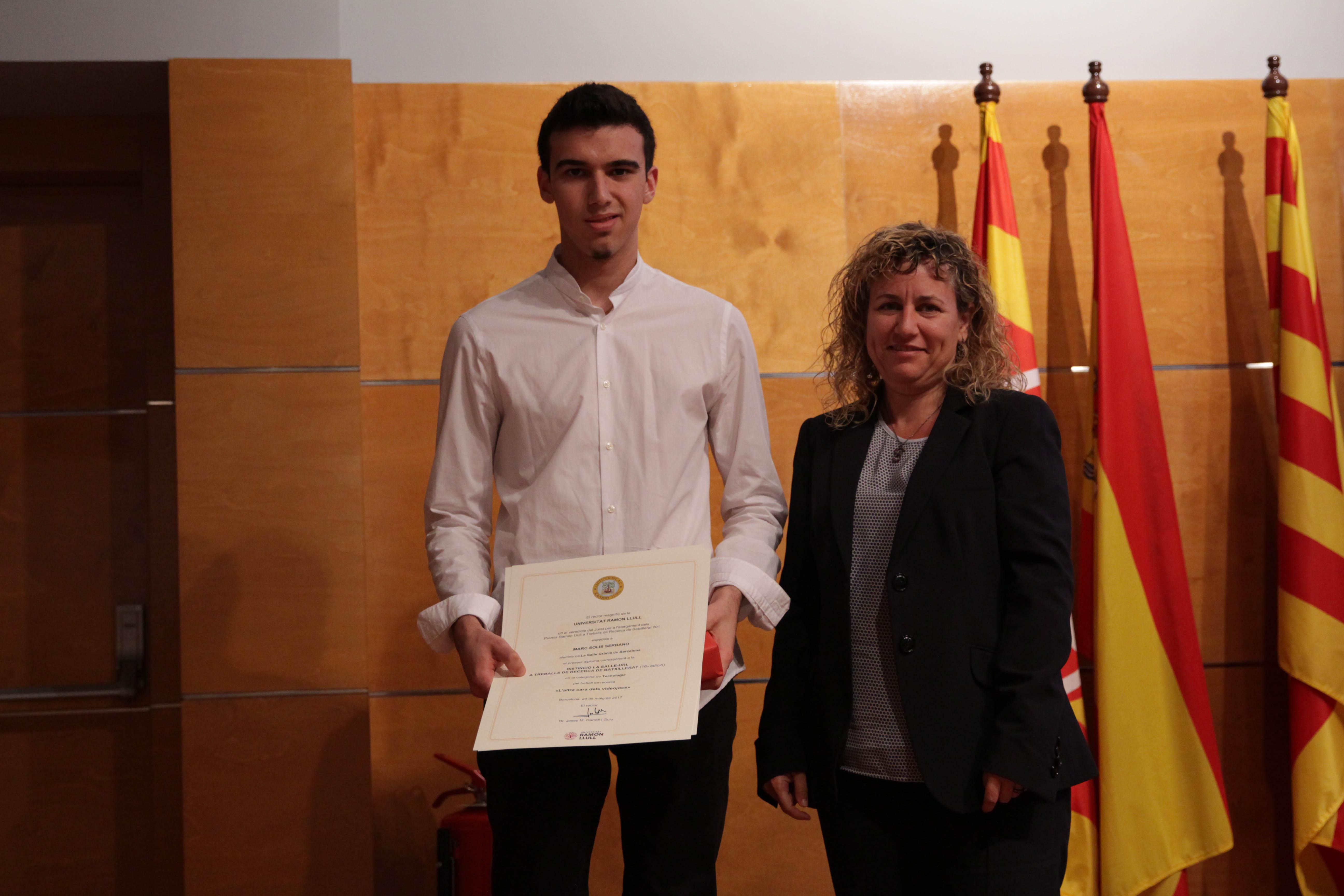 L'alumne Marc Solís guanya la distinció en els Premis Ramon Llull a Treballs de Recerca