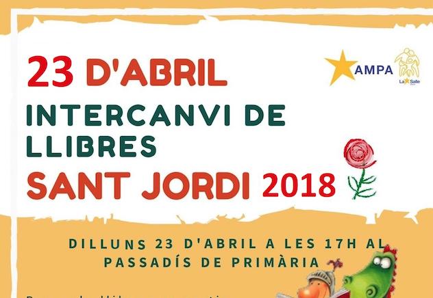Intercanvi de llibres en Sant Jordi 2018