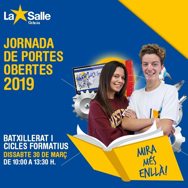JORNADA DE PORTES OBERTES 2019 (batxillerat i cicles formatius)