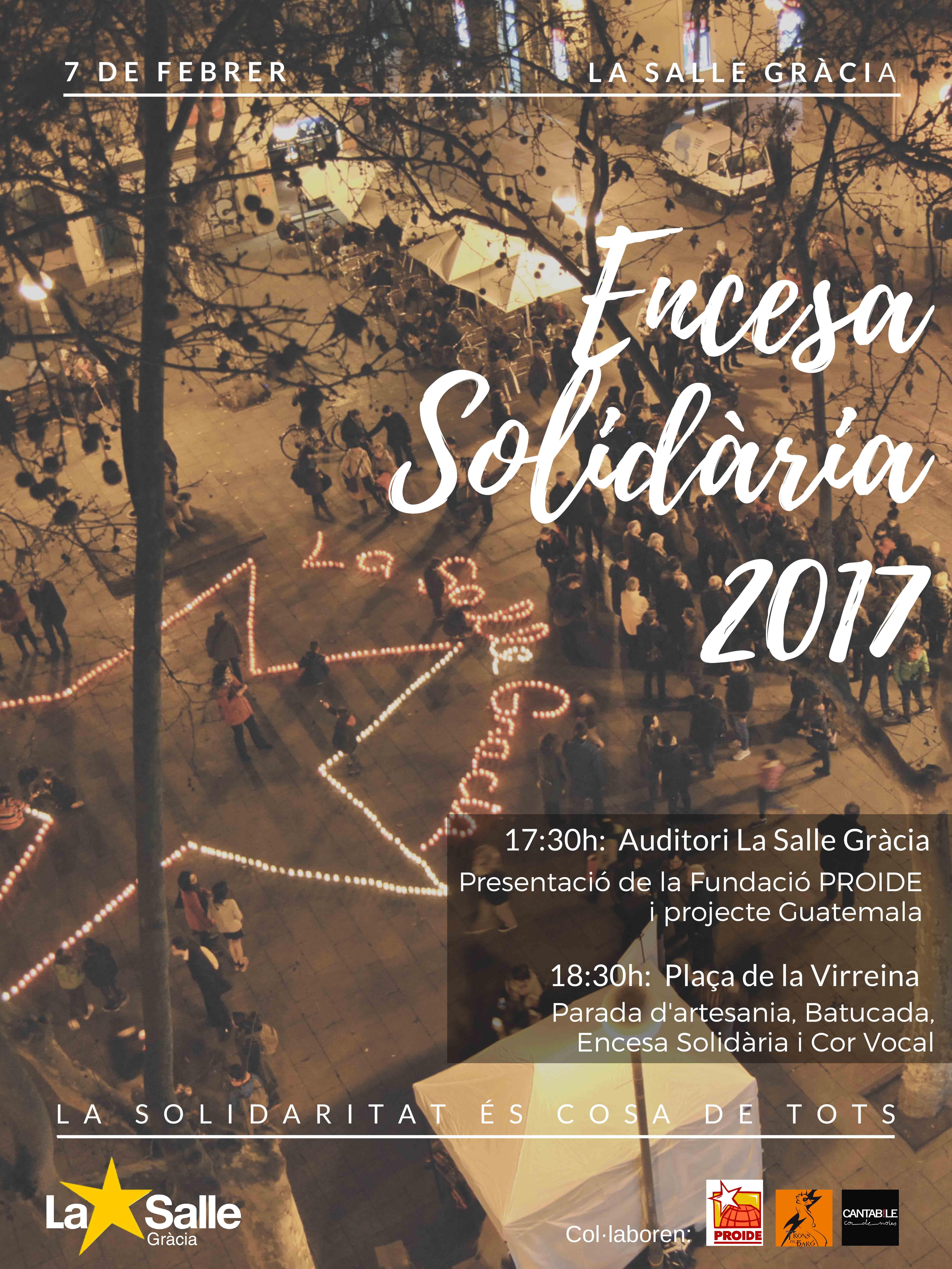 Encesa solidària, Nadal 2016