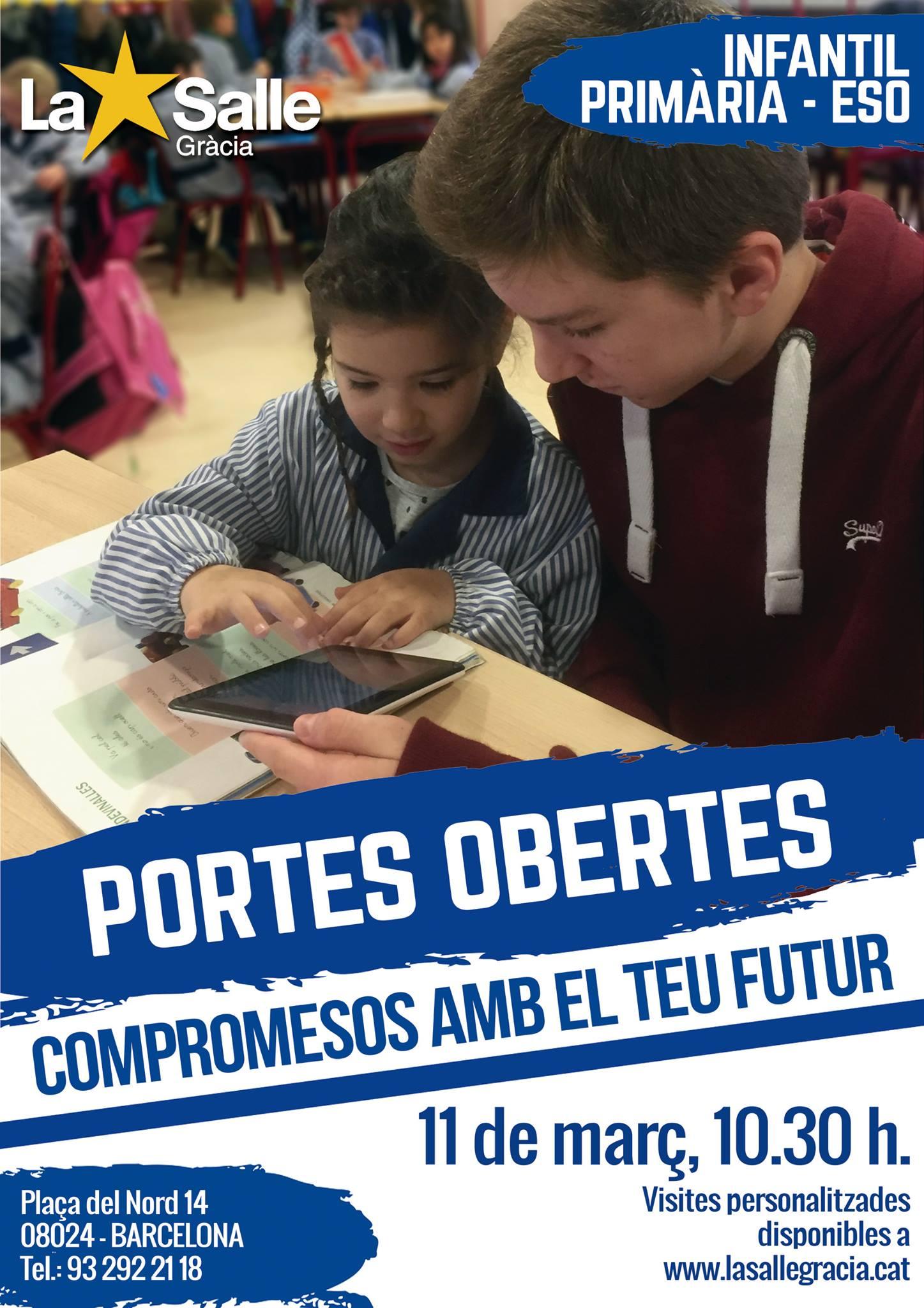 Jornades de portes obertes. Educació Infantil, Primària i ESO