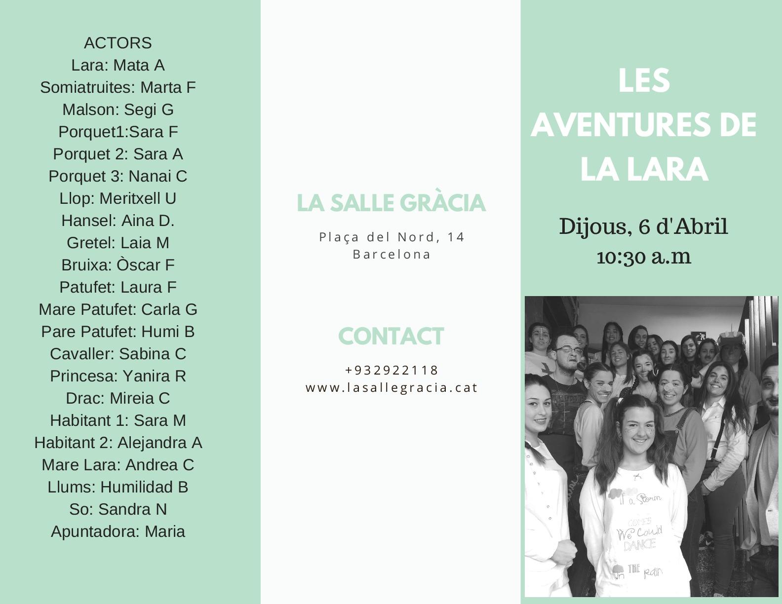 Obra de teatre infantil: Les Aventures de la Lara