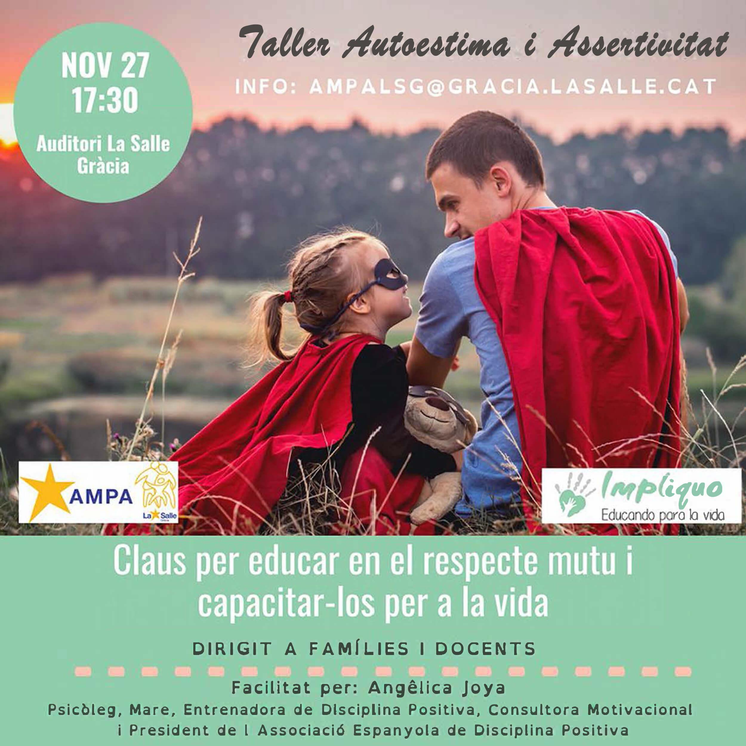 Escola de mares i pares. Conferència-taller: Disciplina positiva, assertivitat i autoestima
