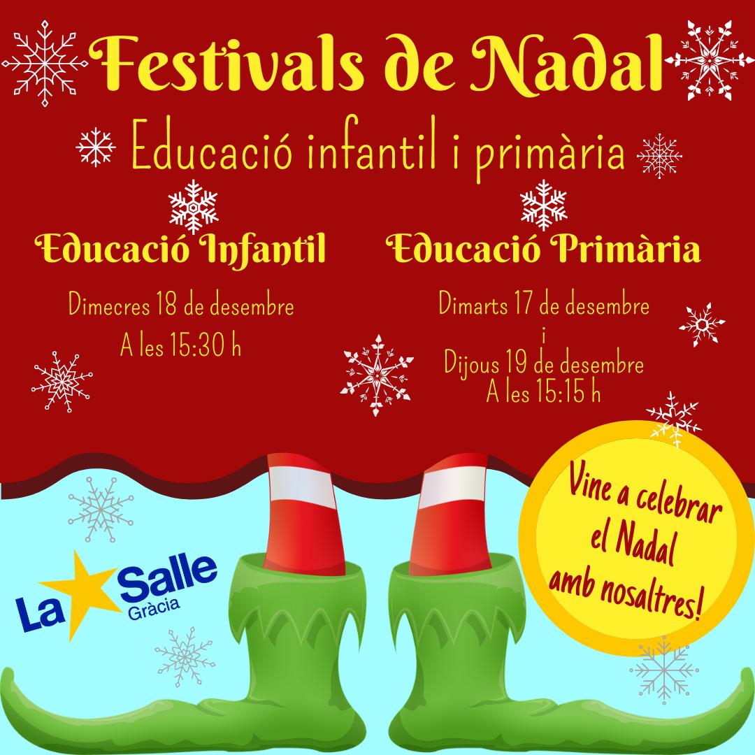FESTIVALS DE NADAL 2019 D'EDUCACIÓ INFANTIL I PRIMÀRIA