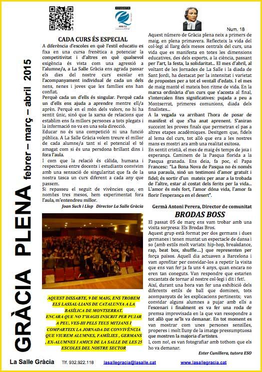 Revista Gràcia Plena, núm. 18